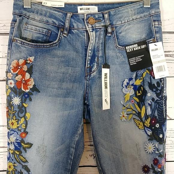 86b6123c853283 William Rast Jeans | Embroidered Perfect Skinny | Poshmark